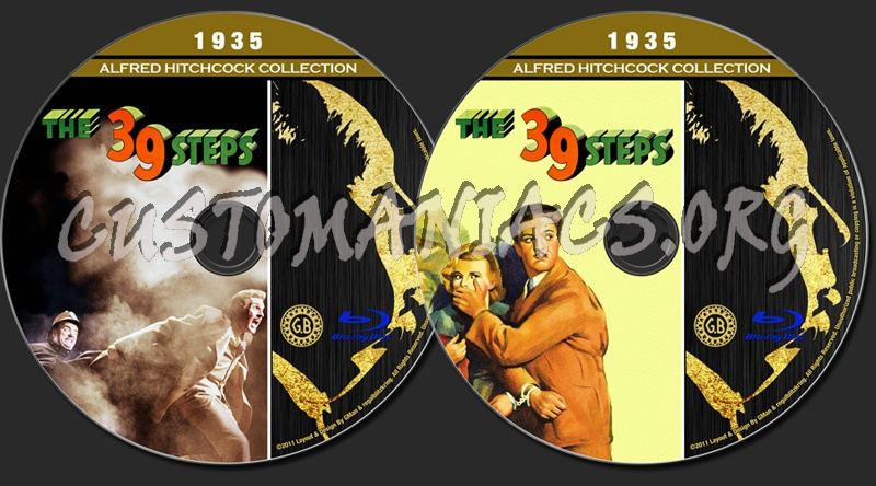 Alfred Hitchcock Collection - The 39 Steps blu-ray label