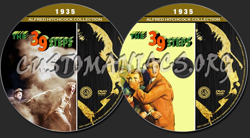 Alfred Hitchcock Collection - The 39 Steps dvd label