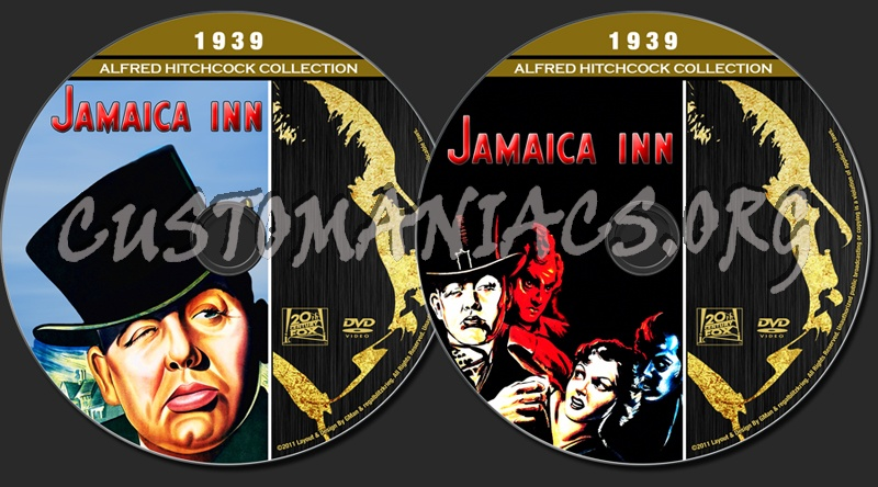 Alfred Hitchcock Collection - Jamaica Inn dvd label