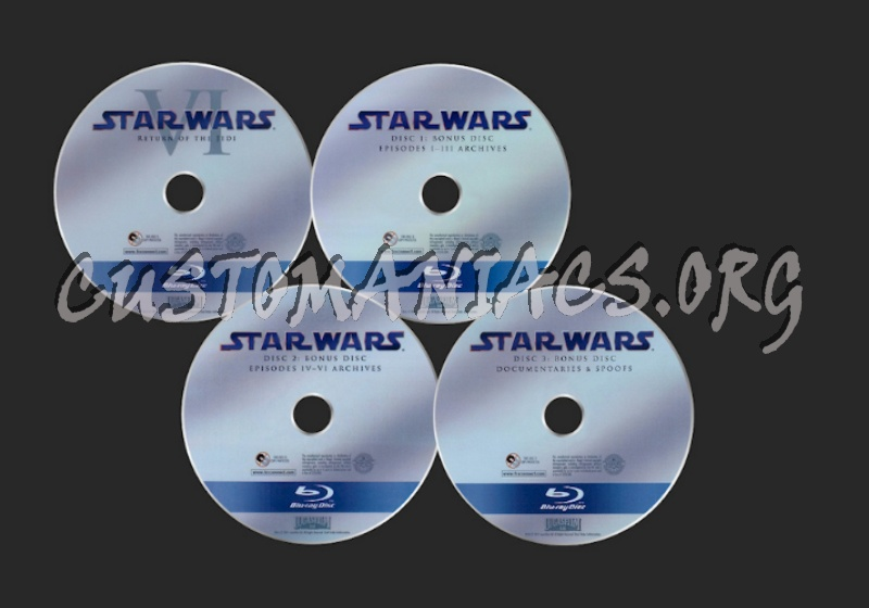 Star Wars The Complete Saga blu-ray label
