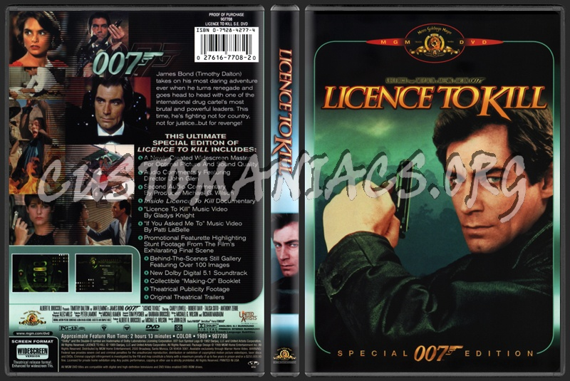 Licence to Kill dvd cover