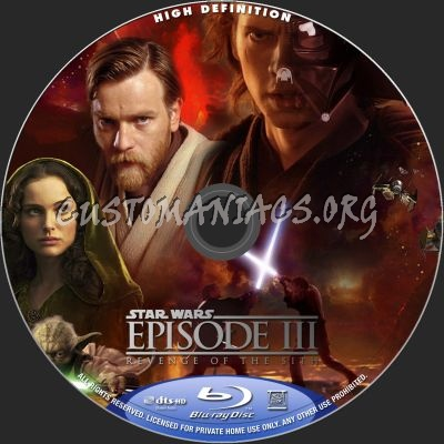 Star Wars Revenge Of The Sith Blu Ray Label Dvd Covers Labels By Customaniacs Id 148701 Free Download Highres Blu Ray Label