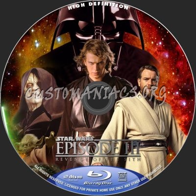 Star Wars Revenge Of The Sith Blu Ray Label Dvd Covers Labels By Customaniacs Id 148703 Free Download Highres Blu Ray Label