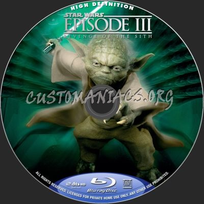 Star Wars Revenge Of The Sith Blu Ray Label Dvd Covers Labels By Customaniacs Id 148710 Free Download Highres Blu Ray Label