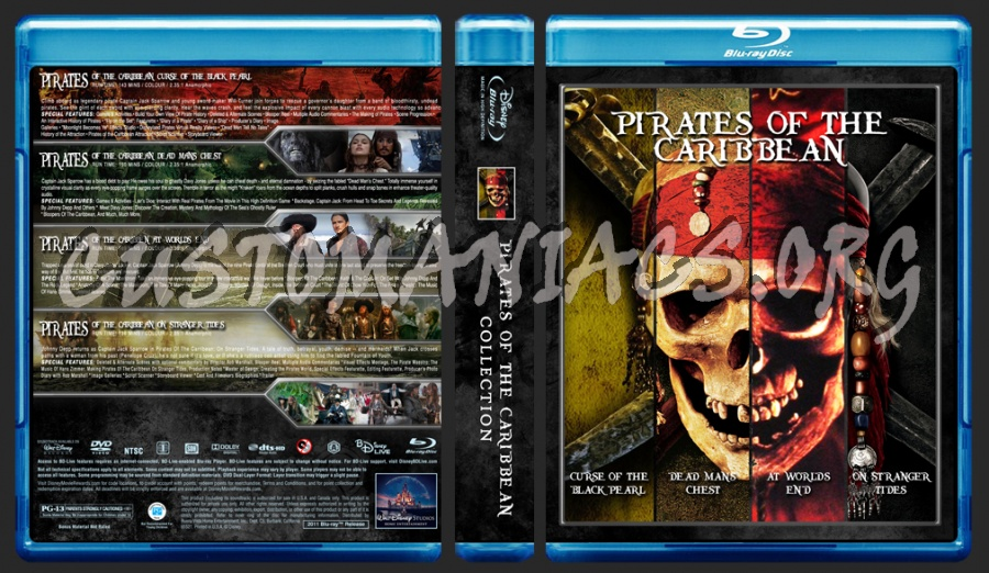 Pirates Of The Caribbean Collection blu-ray cover