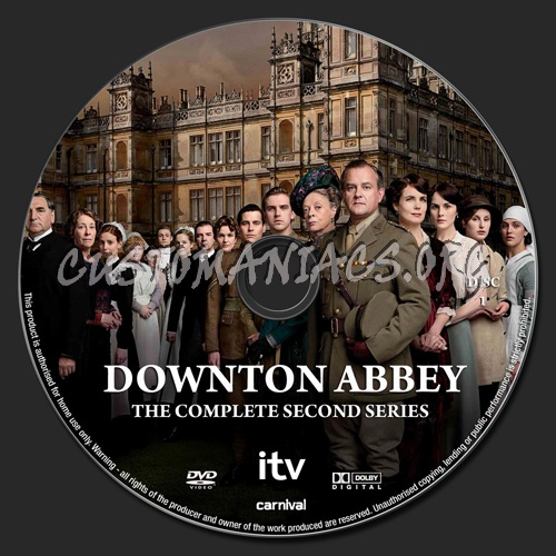 Downton Abbey Season 2 dvd label