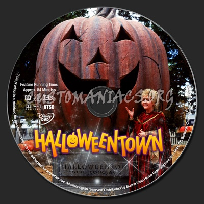 halloweentown dvd label
