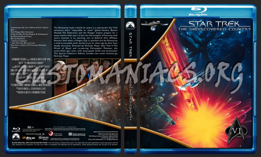 Star Trek Movie Collection blu-ray cover