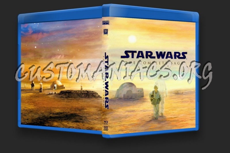 Star Wars The Complete Saga blu-ray cover
