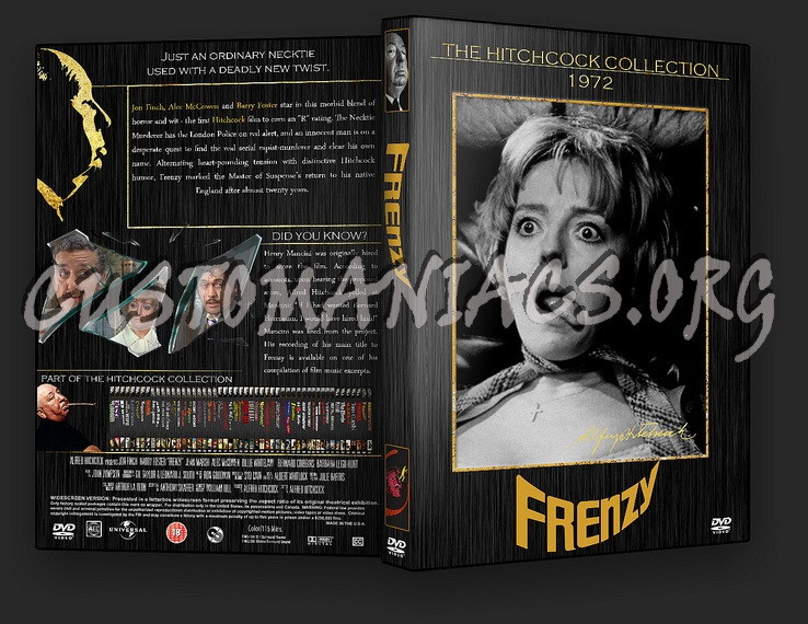 Frenzy - The Alfred Hitchcock Collection dvd cover