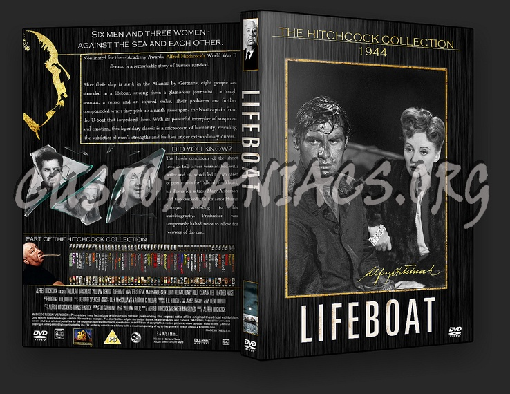 Lifeboat - The Alfred Hitchcock Collection dvd cover