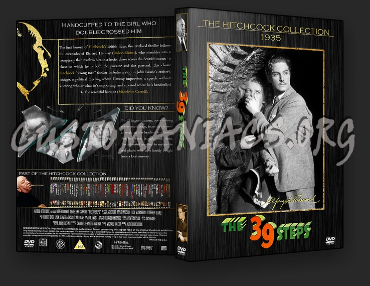 The 39 Steps - The Alfred Hitchcock Collection dvd cover