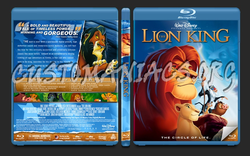The Lion King blu-ray cover