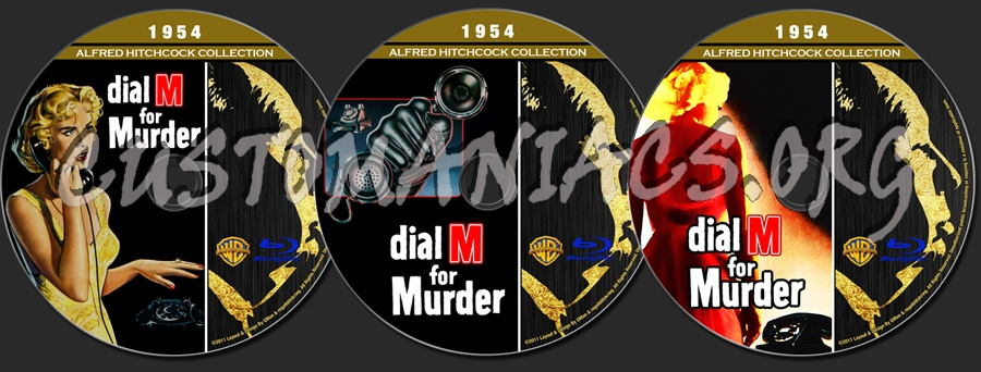 Alfred Hitchcock Collection - Dial M For Murder blu-ray label