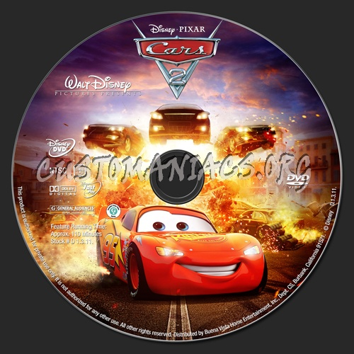 Cars 2 Dvd Label Dvd Covers Labels By Customaniacs Id 149184