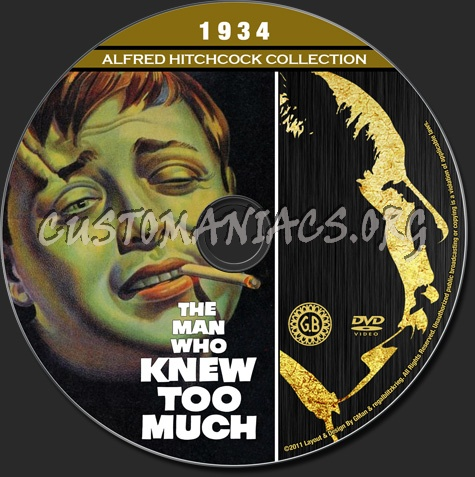 Alfred Hitchcock Collection - The Man Who Knew Too Much (1934) dvd label