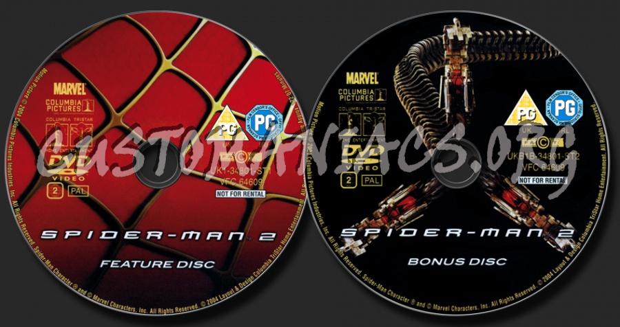 Spider-Man 2 dvd label