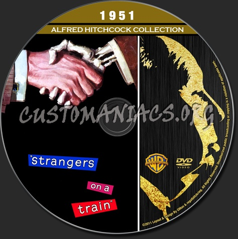 Alfred Hitchcock Collection - Strangers On A Train dvd label