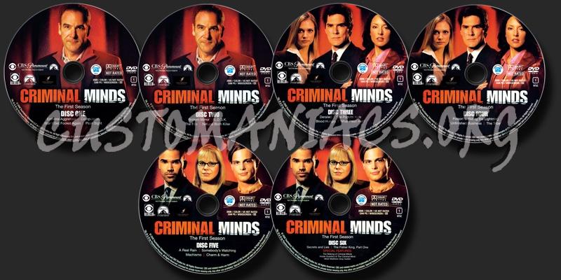 Criminal Minds Season 1 dvd label