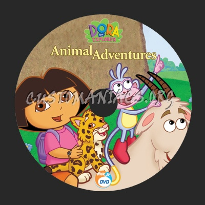 Dora the Explorer dvd label