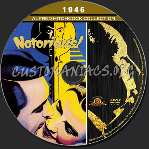 Alfred Hitchcock Collection - Notorious dvd label