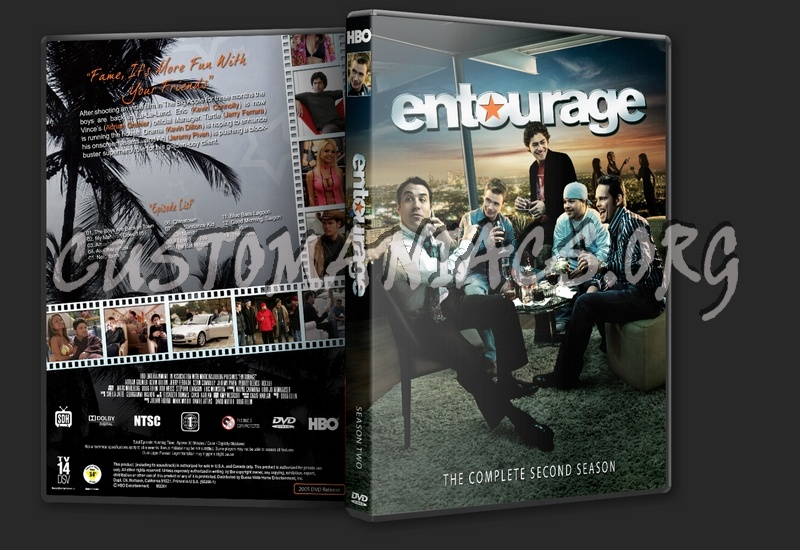 Entourage The Complete Series dvd cover - DVD Covers & Labels by
