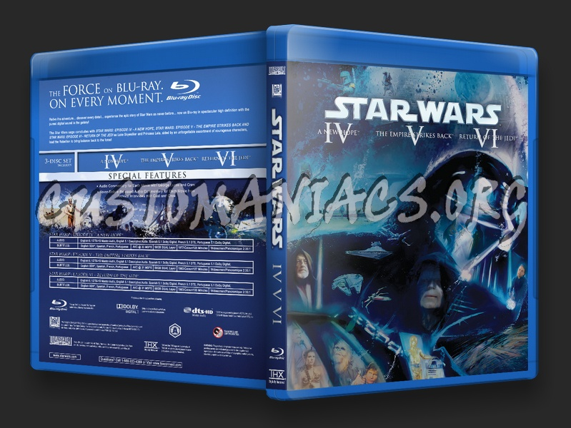 Star Wars The Original Trilogy Blu Ray Cover Dvd Covers Labels By Customaniacs Id 149552 Free Download Highres Blu Ray Cover