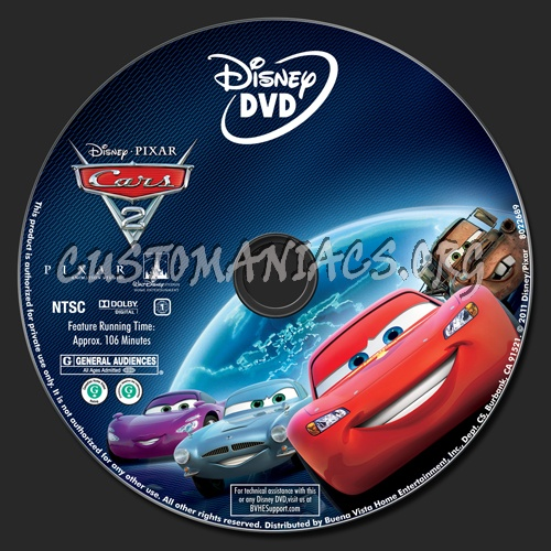 Cars 2 Dvd Label Dvd Covers Labels By Customaniacs Id 149649