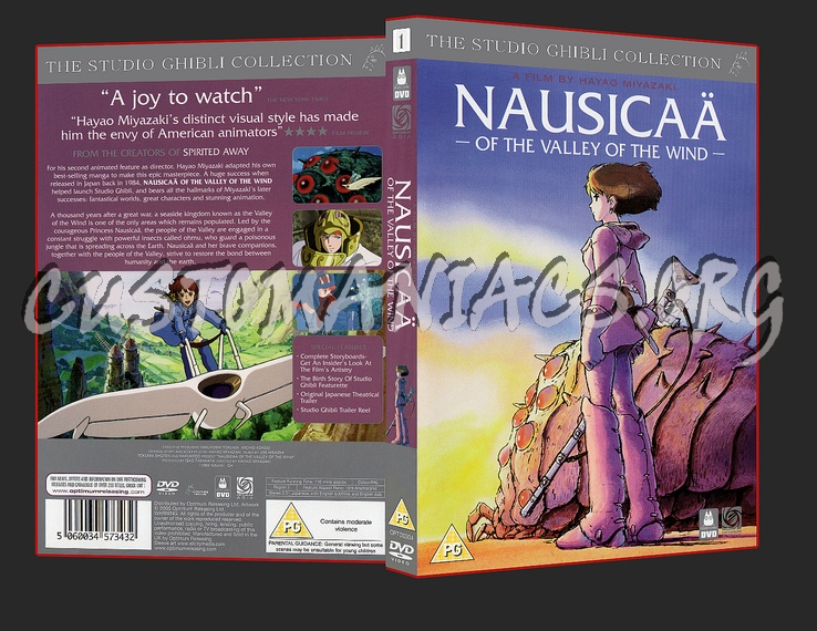 Nausicaa of the Valley Of the Wind dvd cover