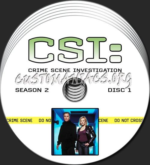 CSI - Las Vegas - Season 2 dvd label