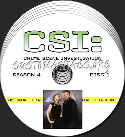 CSI - Las Vegas - Season 4 dvd label