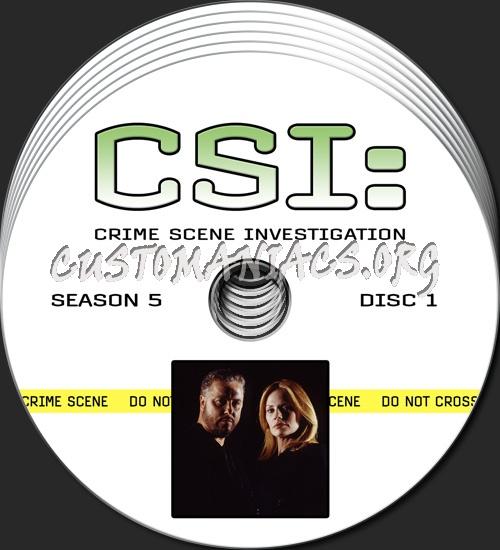 CSI - Las Vegas - Season 5 dvd label