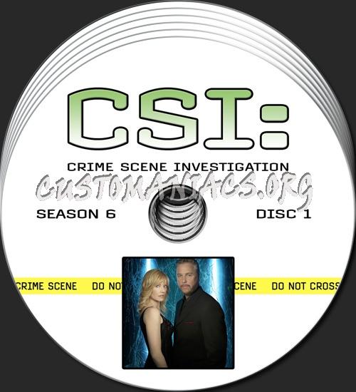 CSI - Las Vegas - Season 6 dvd label