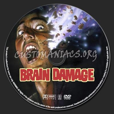 Brain Damage dvd label