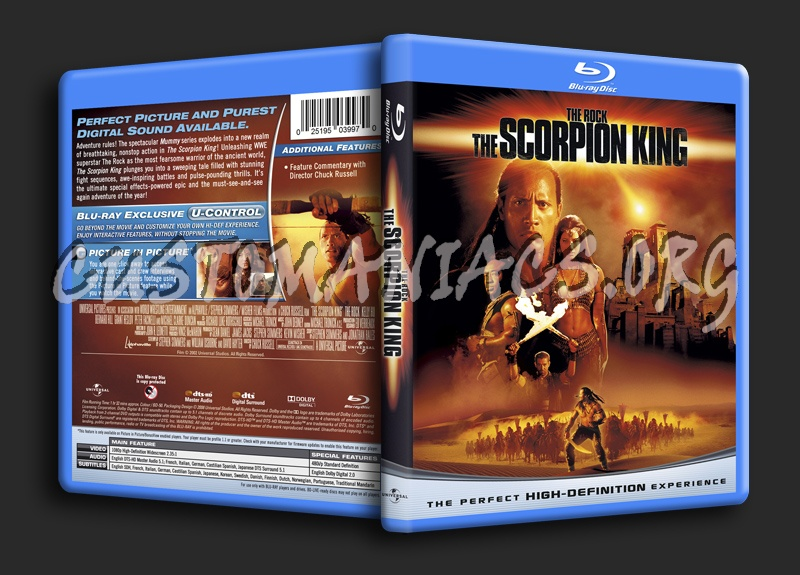 The Scorpion King blu-ray cover