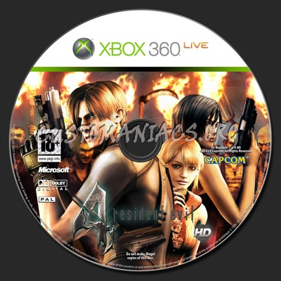 Resident Evil 4 Hd Dvd Label Dvd Covers Labels By Customaniacs