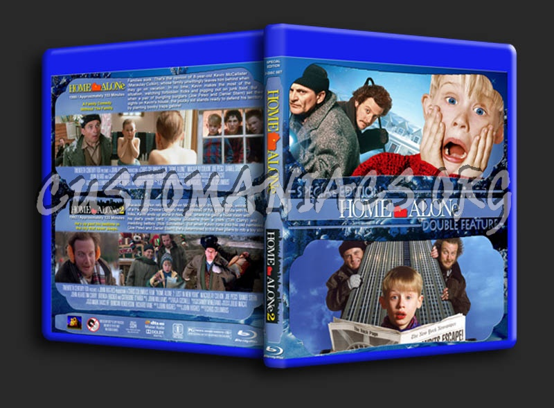 Home Alone 1 & 2 blu-ray cover