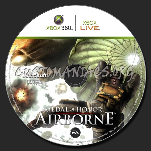 Medal Of Honor Airborne dvd label