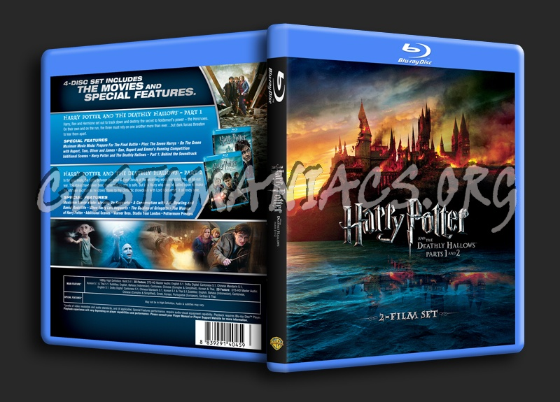 Harry Potter and the Deathly Hallows Part 1 & 2 blu-ray cover
