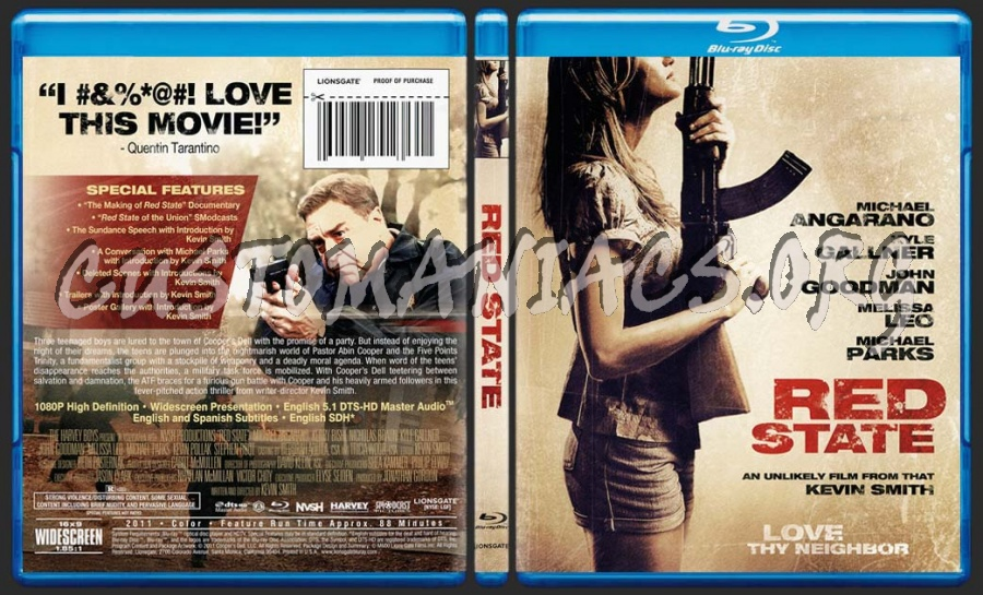Red State blu-ray cover