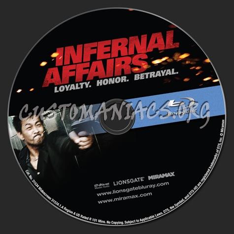 Infernal Affairs blu-ray label
