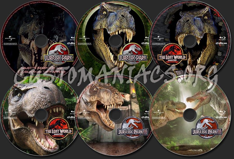Jurassic Park Trilogy blu-ray label