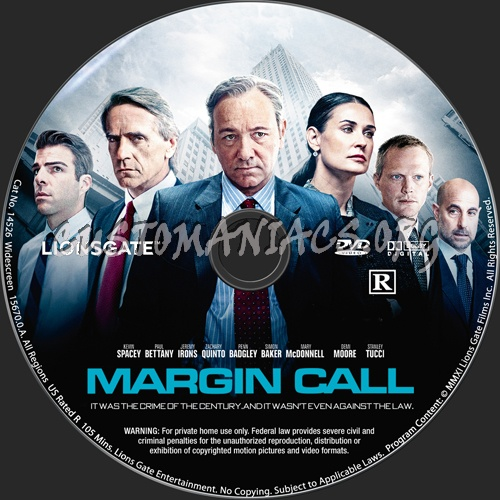 Margin Call dvd label
