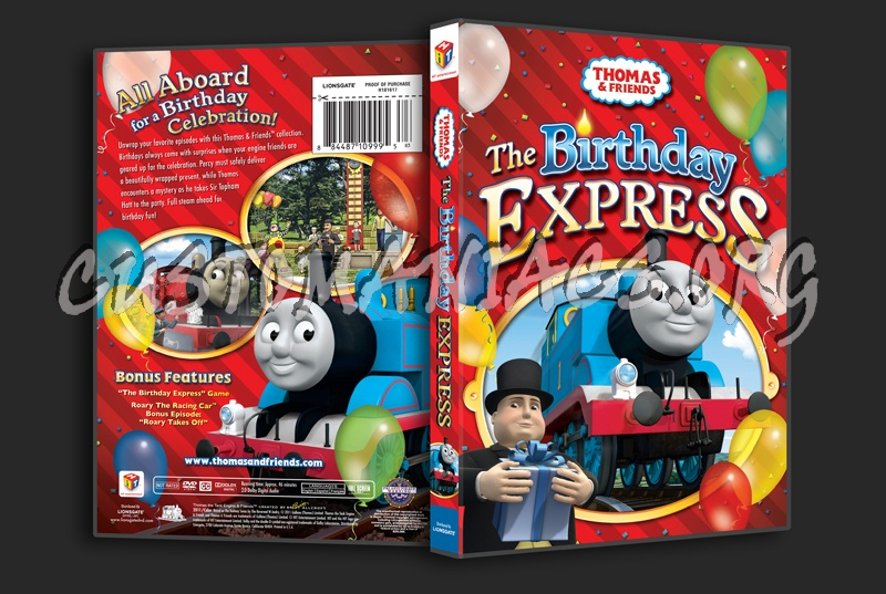 Thomas & Friends: The Birthday Express dvd cover