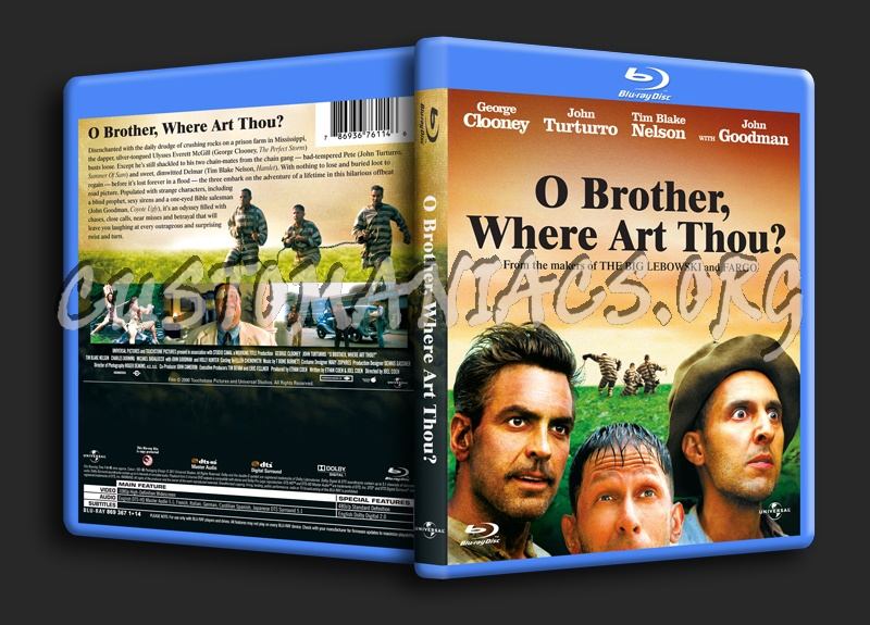 O Brother, Where Art Thou? blu-ray cover