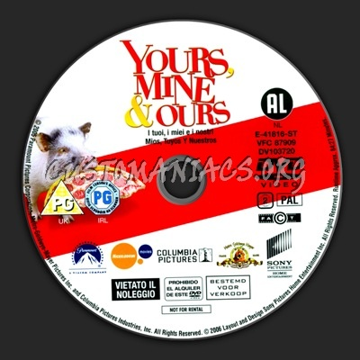 Yours Mine And Ours dvd label
