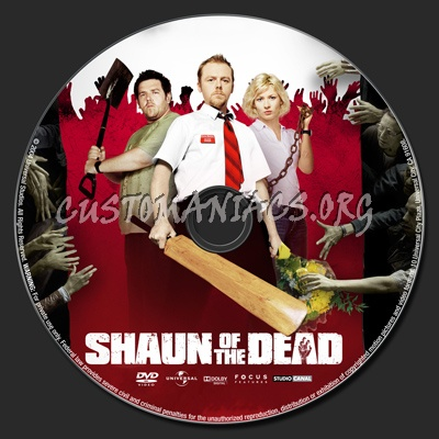 Shaun Of The Dead dvd label