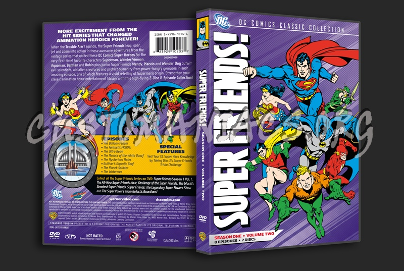 Super Friends! Season 1 Volume 2 dvd cover - DVD Covers & Labels by