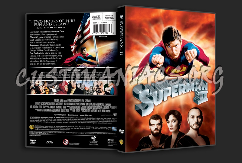 Superman 2 dvd cover
