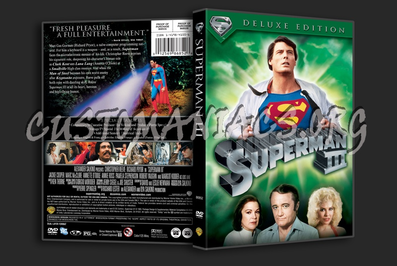 Superman 3 dvd cover